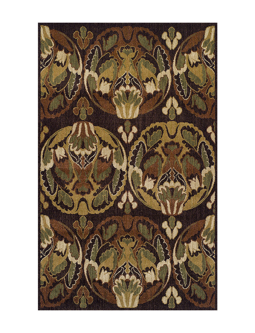 Dalyn Rugs Columbia Collection Chocolate Elegant Print