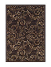 Dalyn Rugs Capri Collection Traditional Leaf Print Area Rug
