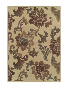 Dalyn Rugs Capri Collection Elegant Leaf Print Area Rug