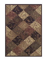 Dalyn Rugs Capri Collection Traditional Square & Leafy Print Area Rug