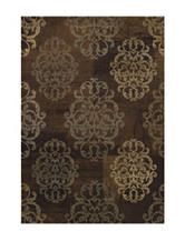 Dalyn Rugs Capri Collection Earth Toned Damask Print Area Rug