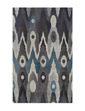Dalyn Rugs Grand Tour Collection Grey Ikat Print Area Rug