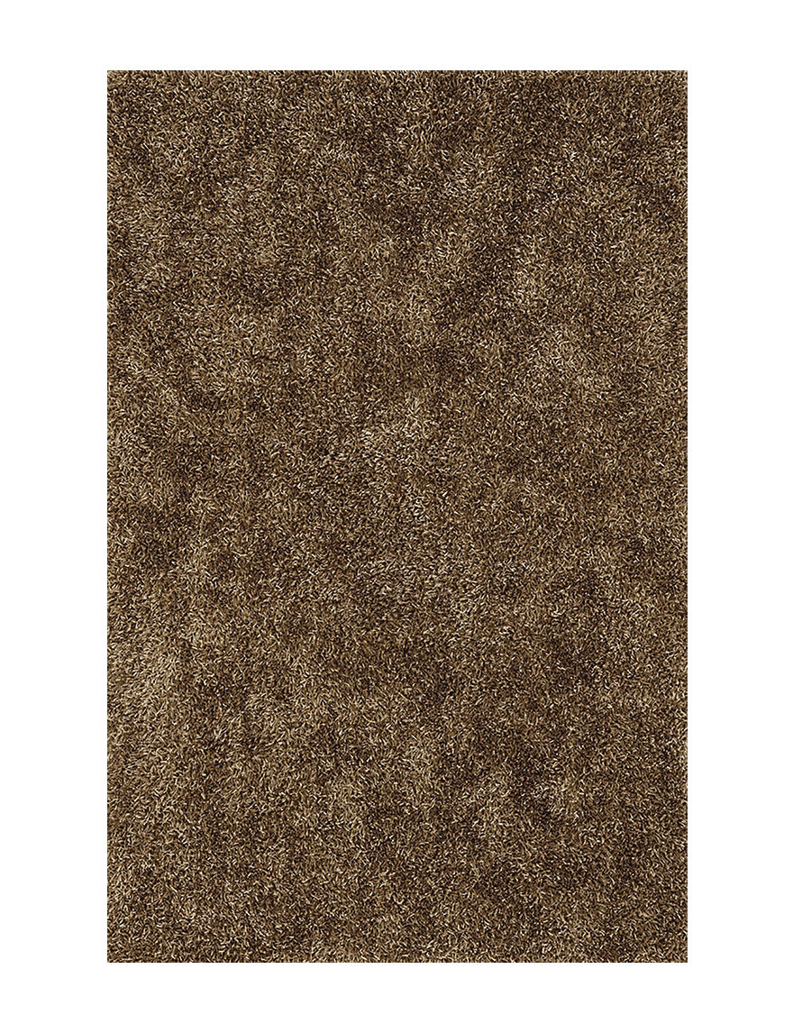 Dalyn Rugs Illusion Collection Solid Color Taupe Shag Area