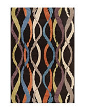 Dalyn Rugs Impulse Collection Multicolored Twisted Ribbon Print Handloomed Area Rug