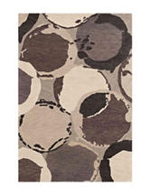 Dalyn Rugs Impulse Collection Connected Circle Print Handloomed Area Rug
