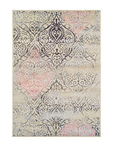 Dalyn Rugs Modern Greys Collection Pink Damask Print Area Rug