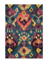 Dalyn Rugs Modern Greys Collection Multicolored Ikat Print Area Rug