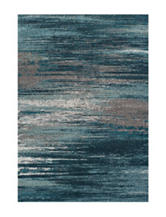 Dalyn Rugs Modern Greys Collection Teal Static Print Area Rug