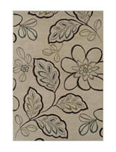 Dalyn Rugs Radiance Collection Floral & Leaf Print Area Rug