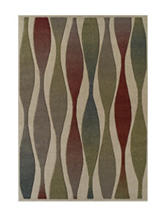 Dalyn Rugs Radiance Collection Retro Wave Print  Area Rug