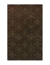 Dalyn Rugs Radiance Collection Chocolate Brown Retro Print Area Rug