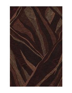 Dalyn Rugs Studio Plush Collection Brown Canyon Print Area Rug