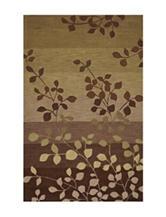 Dalyn Rugs Studio Plush Collection Earth Tone Leaf Print Area Rug