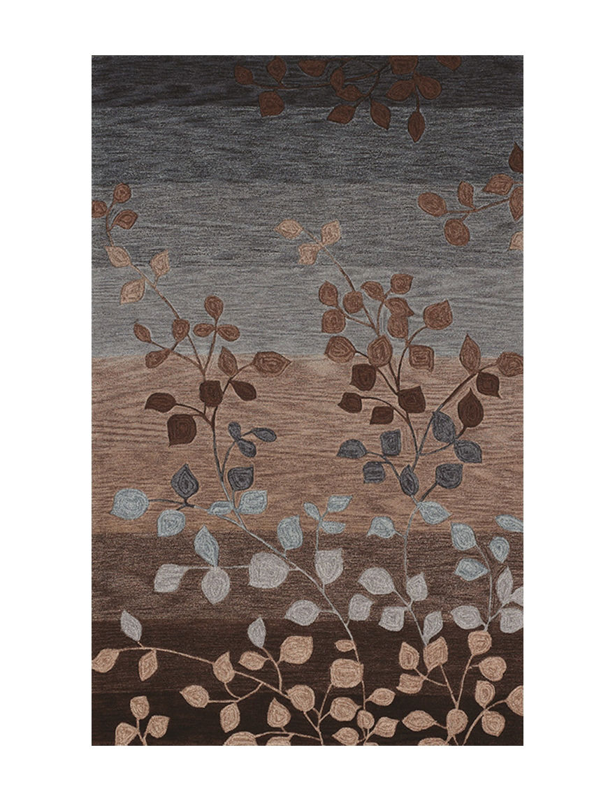 Dalyn Rugs Studio Plush Collection Earth Tone Leaf Print