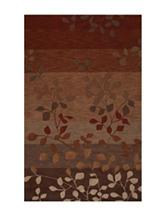 Dalyn Rugs Studio Plush Collection Paprika Earth Tone Leaf Print Area Rug