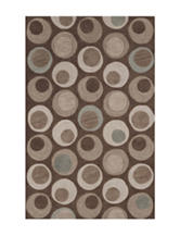 Dalyn Rugs Studio Plush Collection Retro Circle Print Area Rug