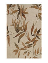 Dalyn Rugs Studio Plush Collection Ivory Leaf Print Area Rug
