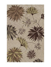 Dalyn Rugs Studio Plush Collection Ivory Daisy Print Area Rug