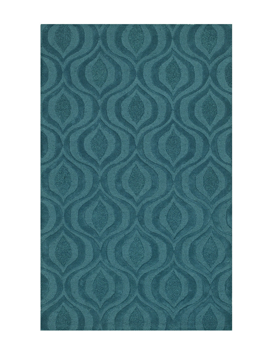 Dalyn Rugs Teal Ikat Print Tones Collection Wool Area Rug