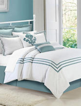 Chic Home Design 8-pc. Cosmo White Sage Brushed Microfiber Comforter Set