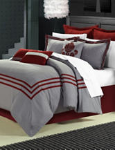 Chic Home Design 8-pc. Cosmo Red & Gray Brushed Microfiber Comforter Set