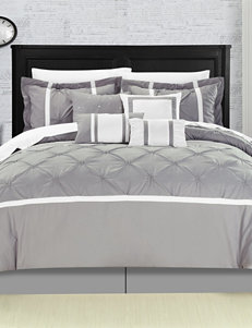 Chic Home Design 8-pc. Vermont Gray Brushed Microfiber Comforter Set