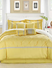 Chic Home Design 8-pc. Vermont Yellow & Gray Brushed Microfiber Comforter Set