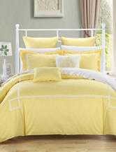 Chic Home Design 7-pc. Woodford Yellow Embroidered Microfiber Comforter Set