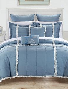Chic Home Design 7-pc. Legend Blue Microfiber Comforter Set