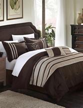 Chic Home Design 7-pc. Luxury Brown & Taupe Microfiber Comforter Set