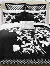 Chic Home Design 7-pc. Iris Black & White Brushed Microfiber Bed in a Bag