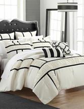 Chic Home Design 7-pc. Tuscan Black & White Brushed Microfiber Comforter Set