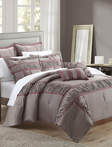 Chic Home Design 7-pc. Tuscan Plum Brushed Microfiber Comforter Set
