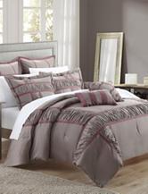 Chic Home Design 7-pc. Tuscan Plum Brushed Microfiber Comforter Set