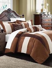 Chic Home Design 7-pc. Regina Brown & Cream Plush Microsuede Comforter Set