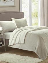 Chic Home Design Evie Beige 3-pc. Plush Microsuede Sherpa Comforter Set