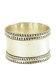 Design Imports 4-pk. Silver Band Napkin Ring Set