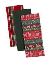 Design Imports 3-pk. Woodland Christmas Dishtowel Set