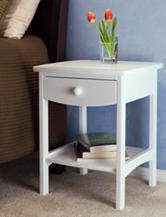 Winsome Curved End Table White