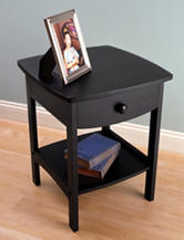 Winsome Curved End Table Black