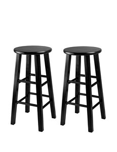 Winsome Black Bar & Kitchen Stools