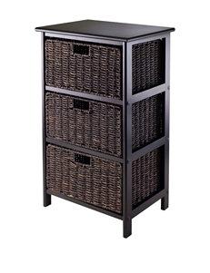 Winsome Black Bookcases & Shelves Living Room Furniture