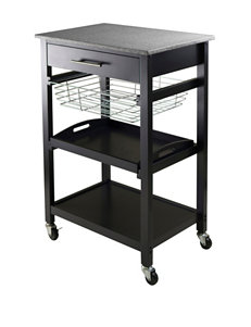 Winsome Black Kitchen Islands & Carts Kitchen & Dining Furniture