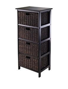 Winsome Black Storage Shelves Living Room Furniture