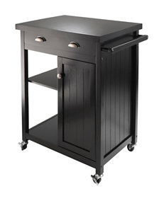 Winsome Black Kitchen Islands & Carts Kitchen & Dining Furniture