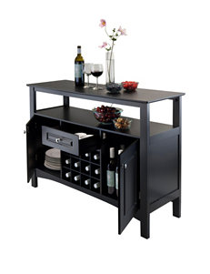 Winsome Black Storage Shelves Living Room Furniture