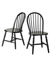Winsome Set of 2 Windsor Chairs