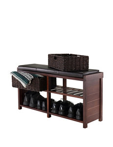 Winsome Dark Brown Ottomans & Benches Living Room Furniture