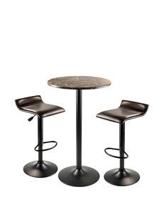 Winsome 3-pc. Cora Round Pub Table Set