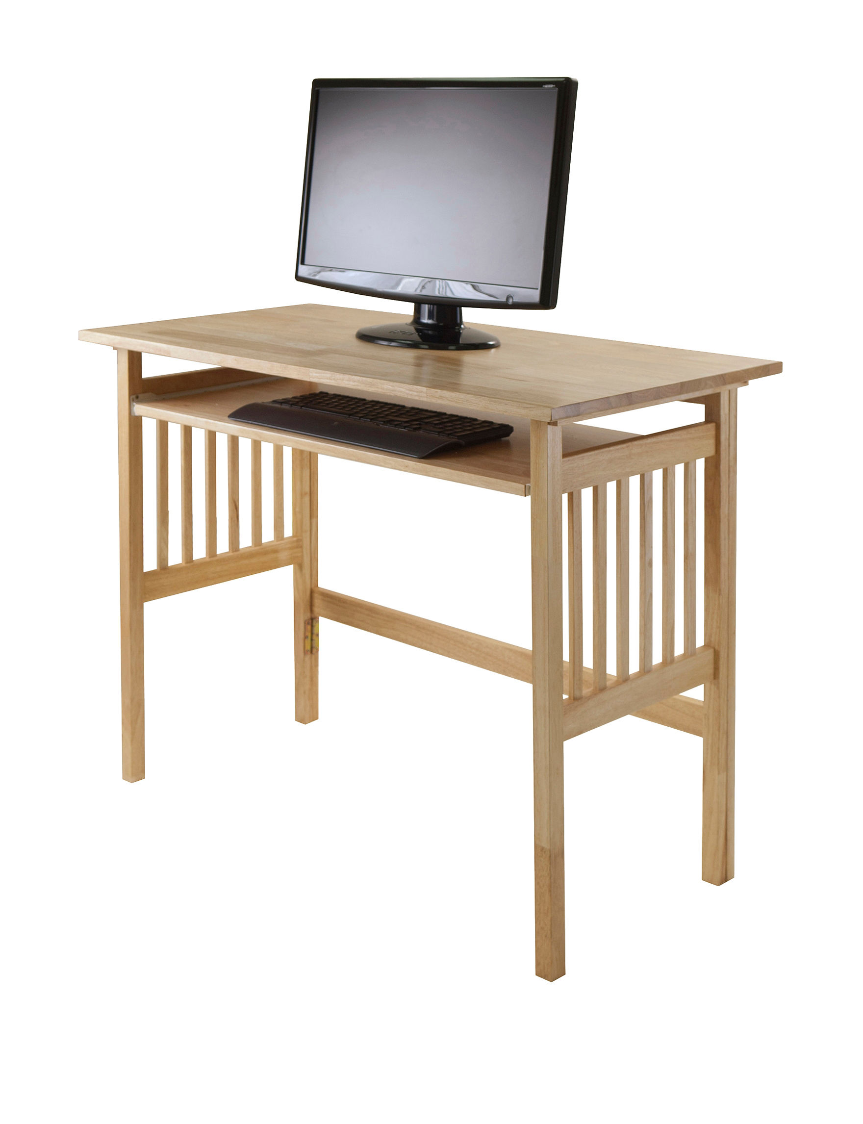 Winsome Natural Wood Computer Desk Stage Stores